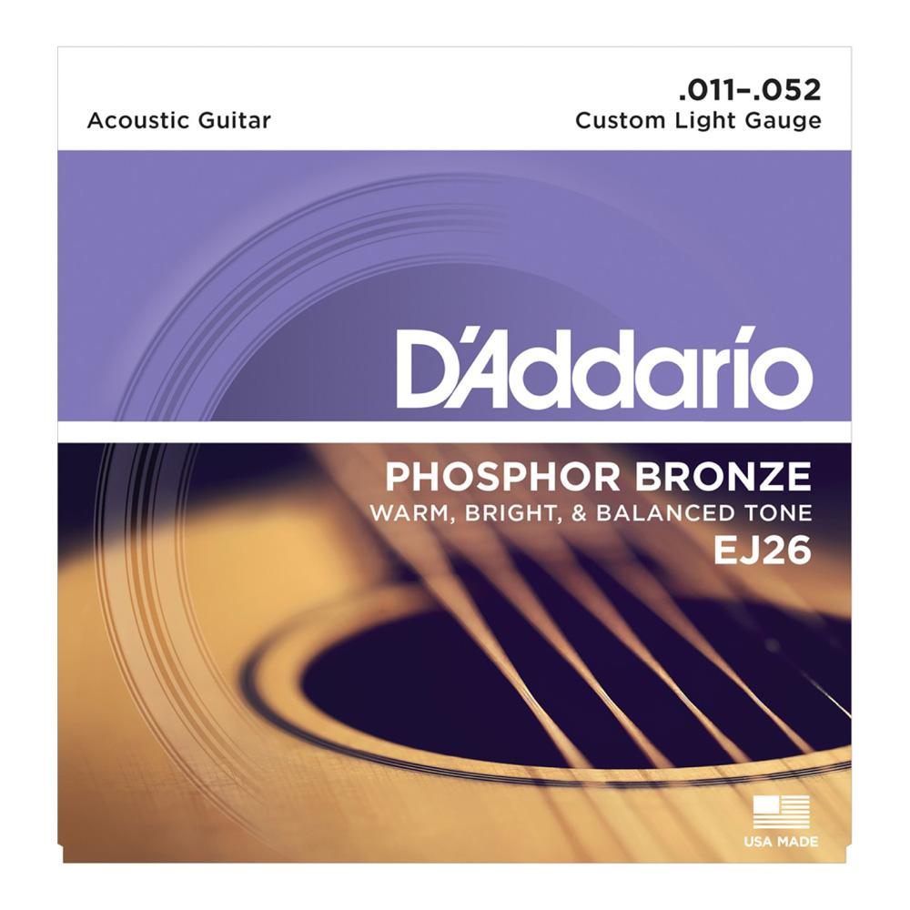 D'Addario EJ26/Phosphor Bronze/Custom Light アコースティックギター弦×10セット