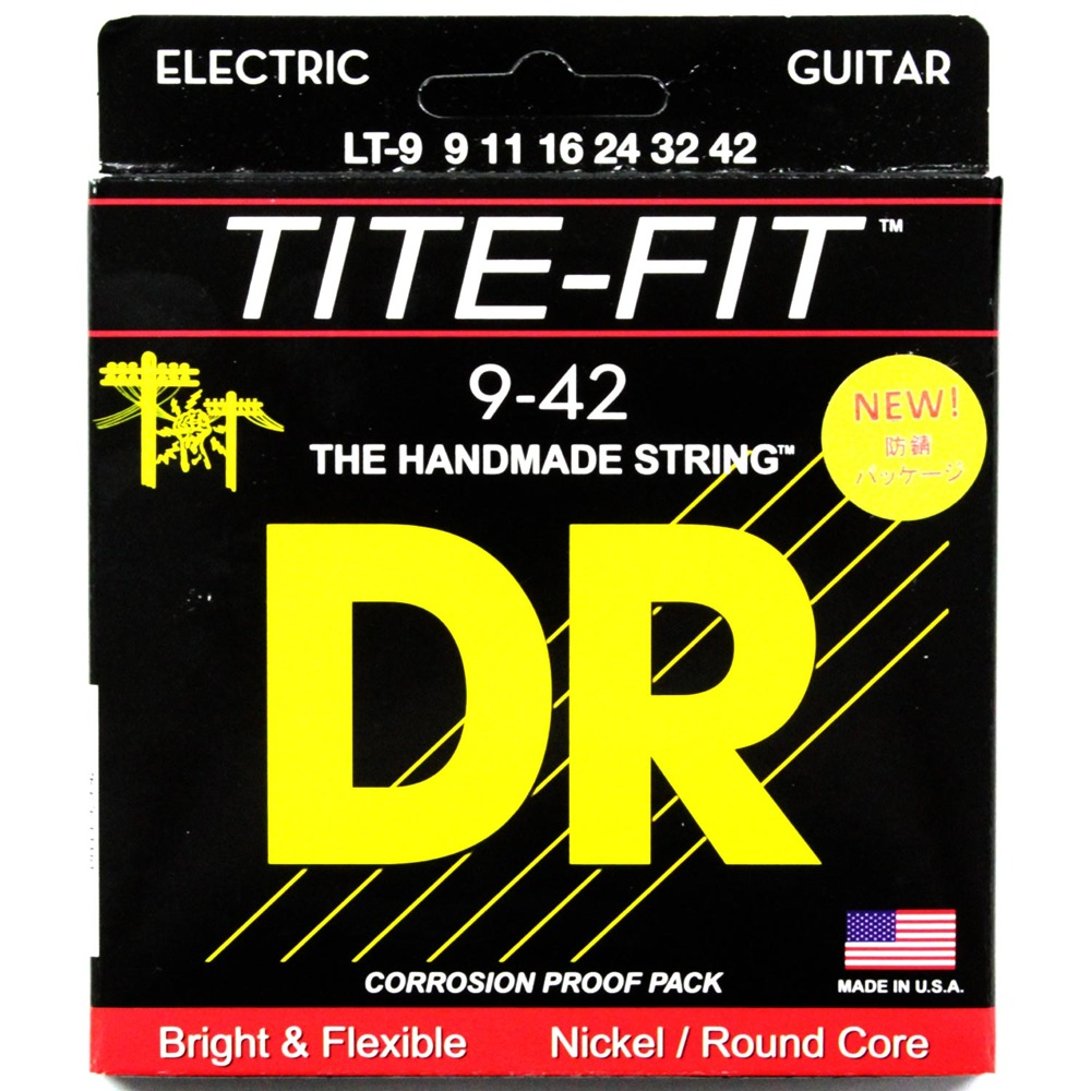 DR LT-9 LITE TITE-FIT エレキギター弦×6セット