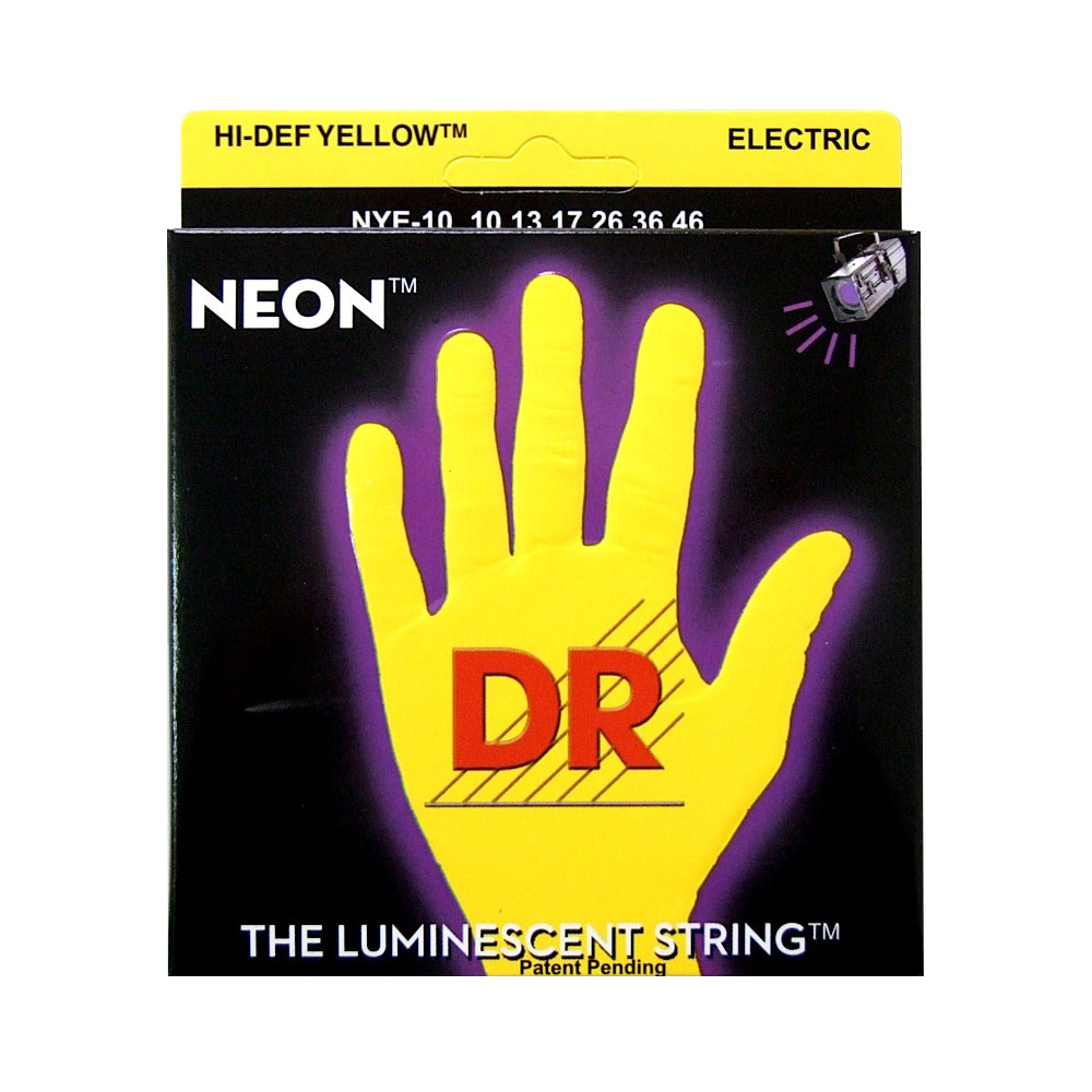 DR NEON YELLOW DR-NYE10 Medium エレキギター弦×6セット