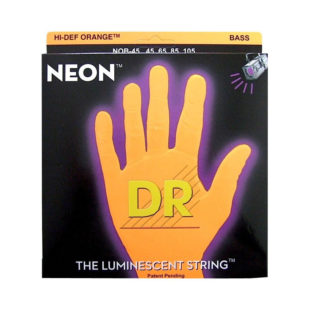 DR NEON ORANGE DR-NOB45 Medium エレキベース弦×2セット