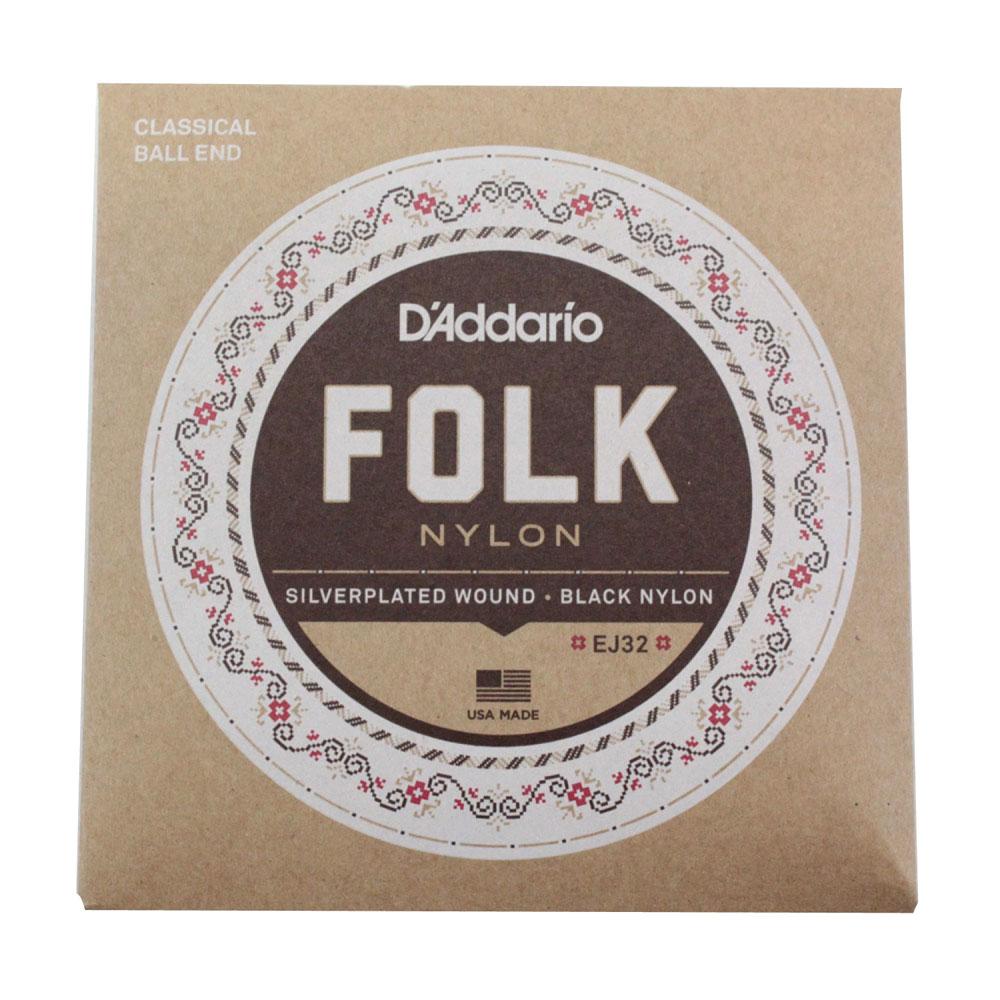 D'Addario FOLK NYLON EJ32×10SET ボールエンド付きクラシックギター弦