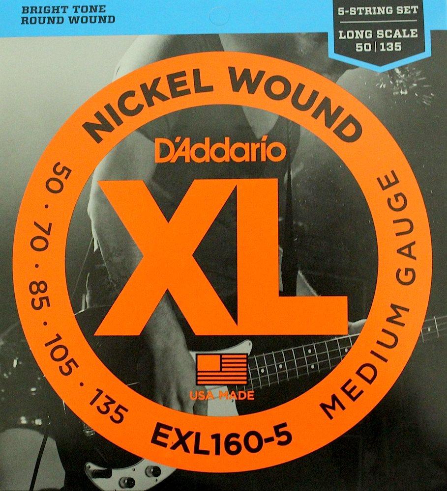 D'Addario EXL160-5×5SET 5弦用ベース弦