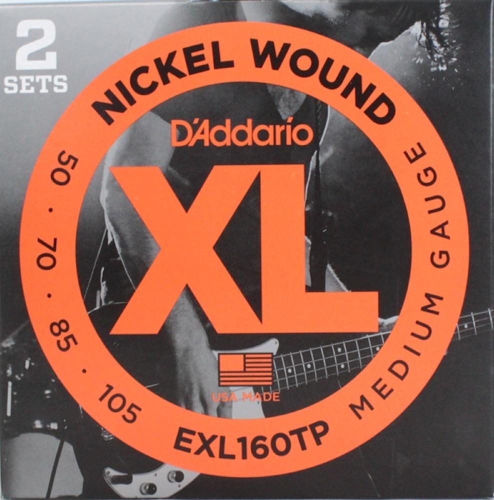 D'Addario EXL160TP×5PACK エレキベース弦