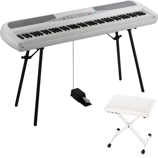 KORG SP-280 WH ピアノイス付きセット 電子ピアノ