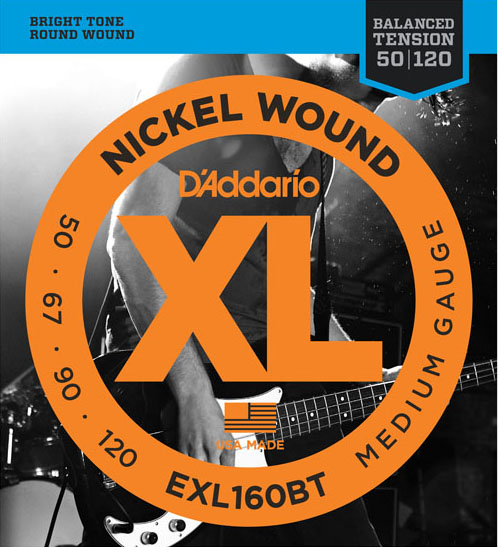 D'Addario EXL160BT Medium 50-120×5SET エレキベース弦