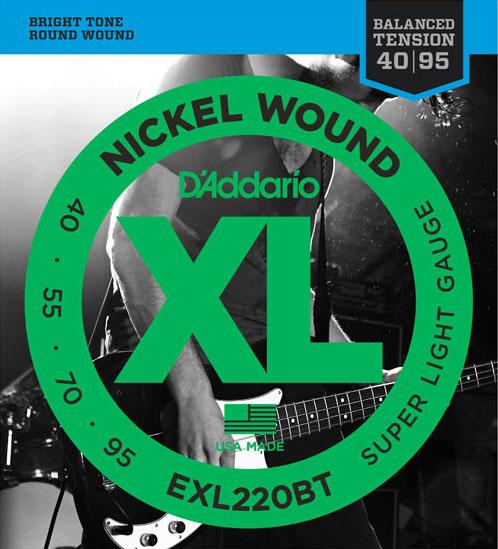 D'Addario EXL220BT Super Light 40-95×5SET エレキベース弦