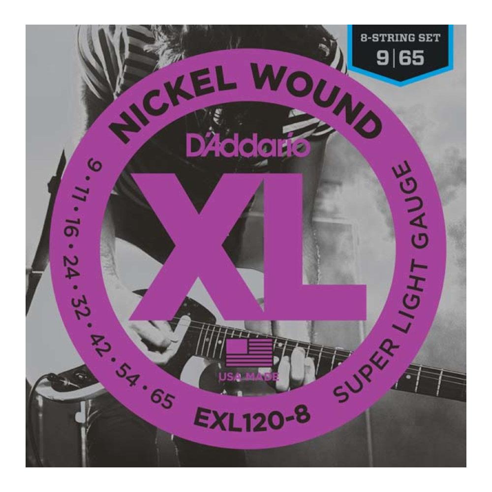 D'Addario EXL120-8 8弦エレキギター弦×10セット
