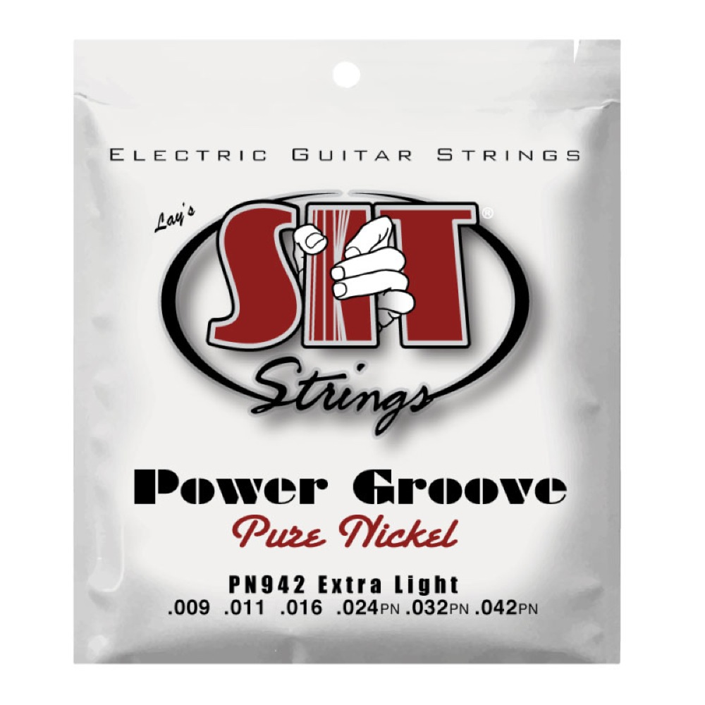 SIT STRINGS PN942 EXTRA LIGHT POWER GROOVE エレキギター弦×6セット