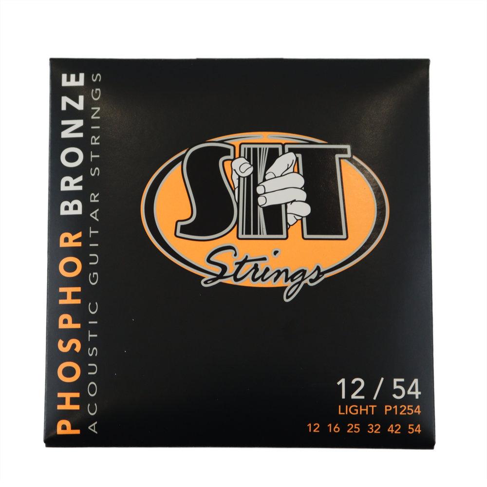 SIT STRINGS P1254 LIGHT PHOSPHOR BRONZE アコースティックギター弦×12セット