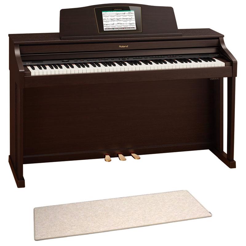 ROLAND HPi-50e RWS 電子ピアノ 高低自在イス&ピアノセッティングマット付き セット【組立設置無料サービス中】