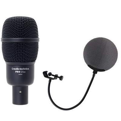【お買い得 ダイナミックマイク メタルポップフィルター付きセット】AUDIO-TECHNICA PRO25ax