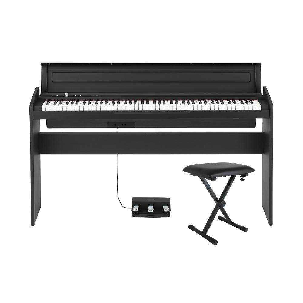 KORG LP-180 BK X型ピアノイス付き 電子ピアノ