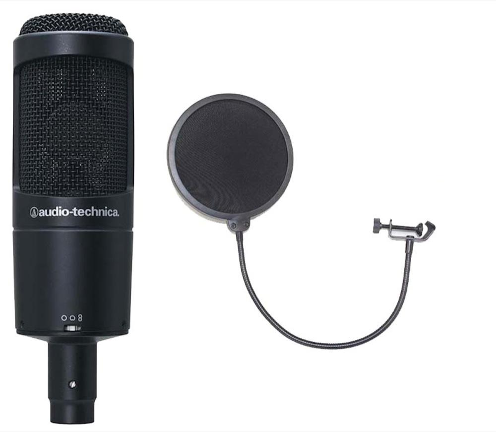 AUDIO-TECHNICA AT2050 ポップフィルター付き コンデンサーマイク