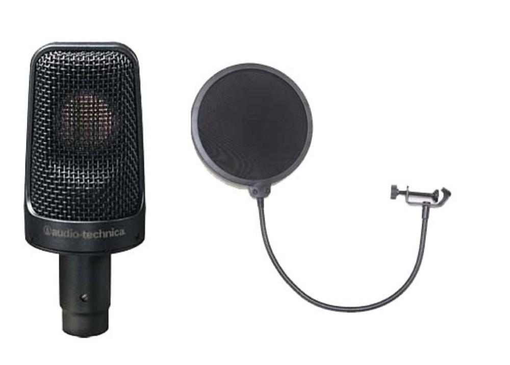 AUDIO-TECHNICA AE3000 ポップフィルター付き コンデンサーマイク