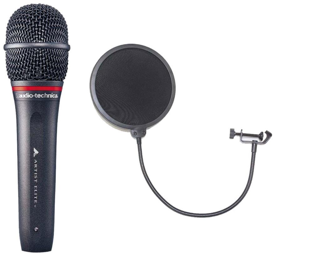 AUDIO-TECHNICA AE6100 ポップフィルター付き ハンドヘルド ダイナミックマイクロフォン