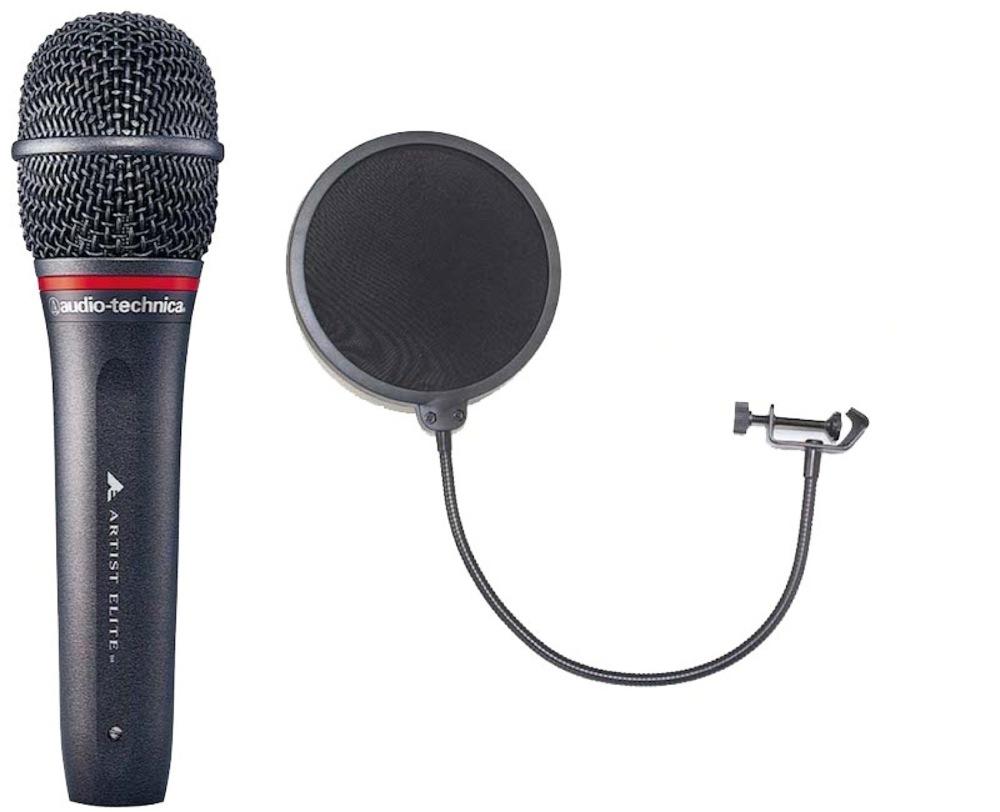 AUDIO-TECHNICA AE4100 ポップブロッカー付き ハンドヘルド ダイナミックマイクロフォン