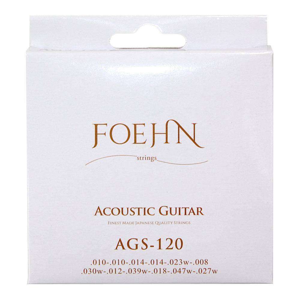 フェーン アコギ弦 12弦用ライトゲージ ブロンズ弦 FOEHN AGS-120×2セット Acoustic Guitar 12弦アコースティックギター弦 まとめ買い特価 日本限定 Bronze Light Strings 20 12strings 80