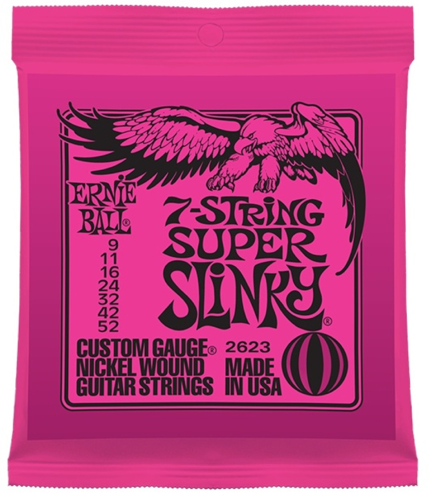 ERNIE BALL 2623 7-String Super Slinky 7弦エレキギター弦×12セット