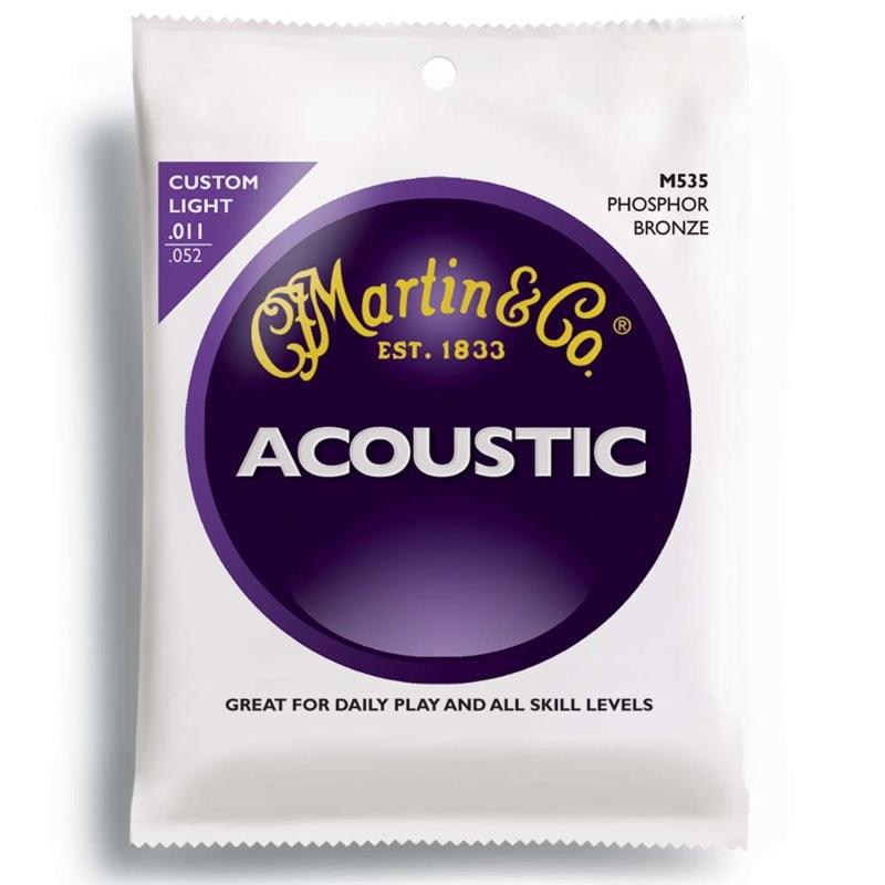 【希望者のみラッピング無料】 MARTIN M535 Custom 11-52 Light Custom 11-52 M535 アコースティックギター弦×10SET, 京都 森乃家:1272ff0a --- enduro.pl