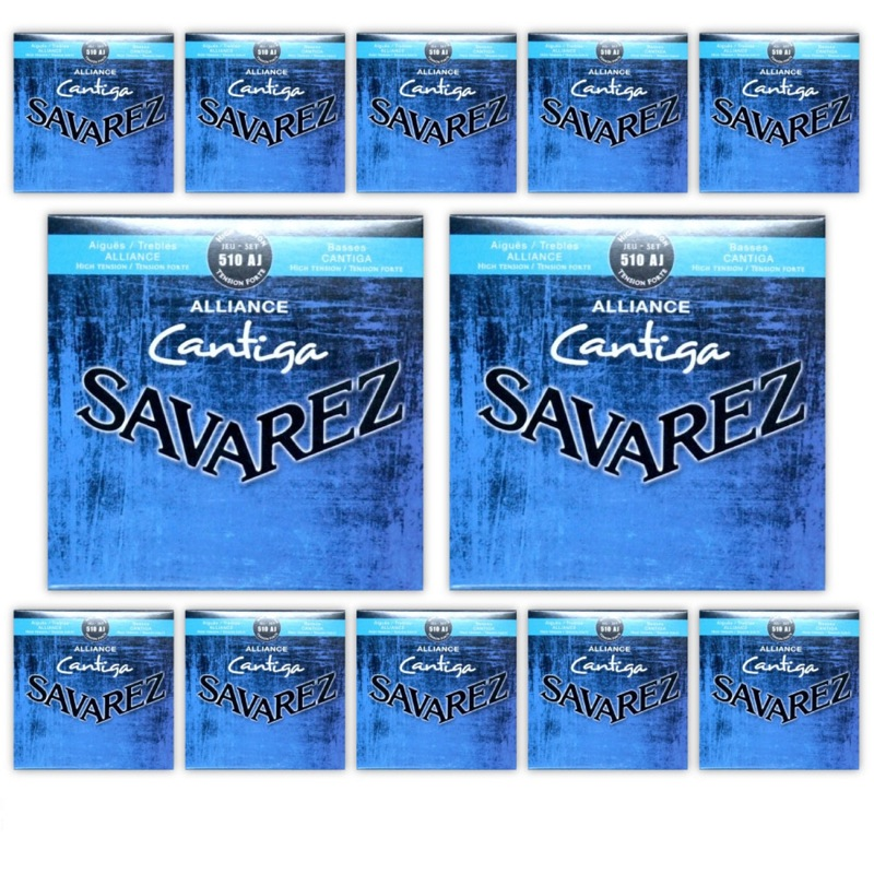 SAVAREZ 510 AJ HIGH TENSION Alliance&Cantiga クラシックギター弦×12セット