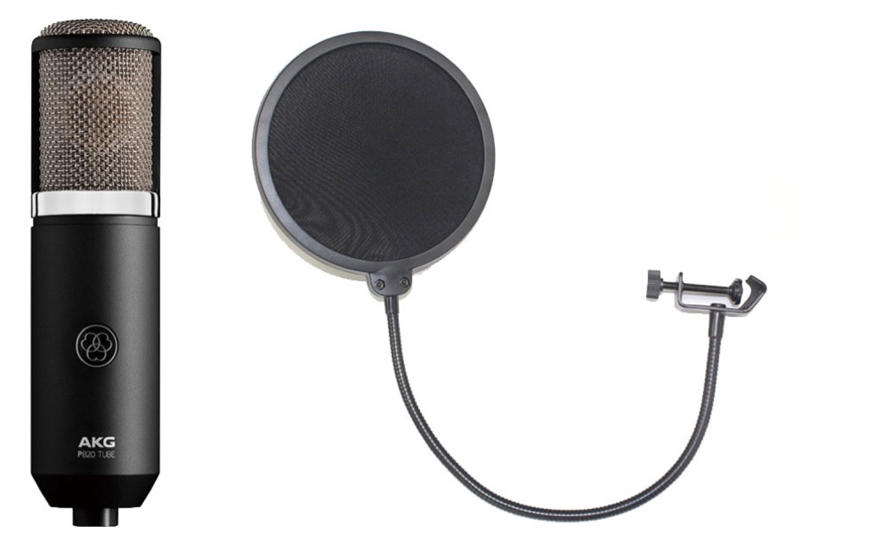 AKG P820 Project Studio Line TUBE ポップフィルター付き 真空管マイクロフォン