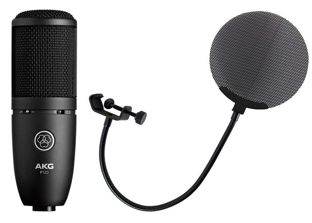 AKG P120 Project Studio Line メタルポップフィルター付き コンデンサーマイクロフォン