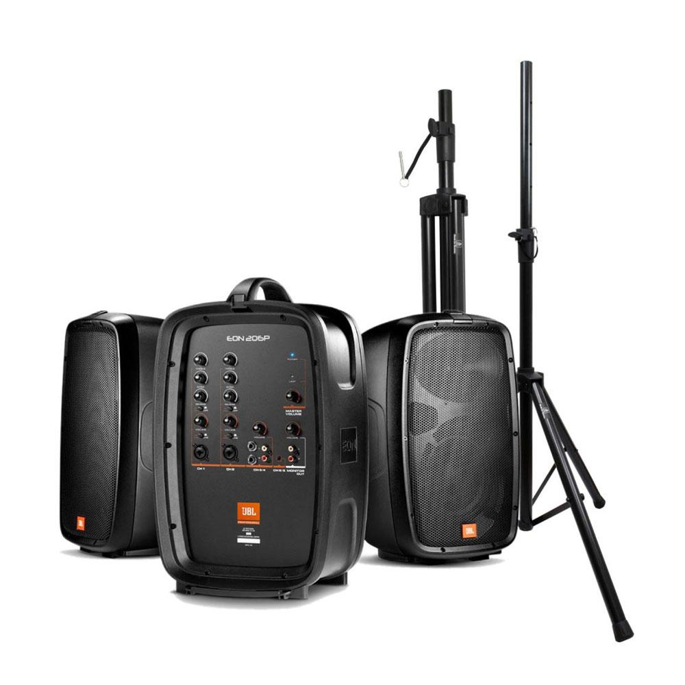 JBL PROFESSIONAL EON206P ポータブルPAシステム Dicon Audio SS-062 スピーカースタンド 2本セット付きセット