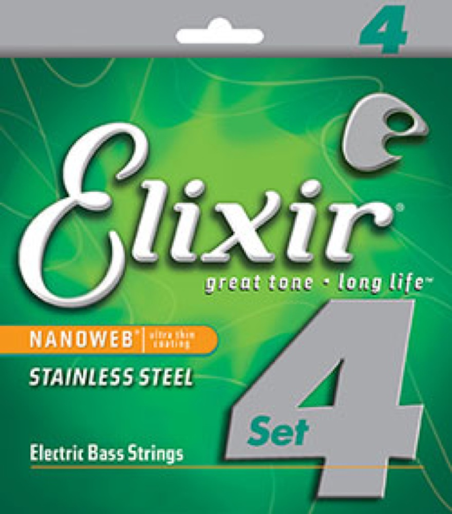 ELIXIR 14652 Stainless Steel with NANOWEB Light ベース弦 ×2セット