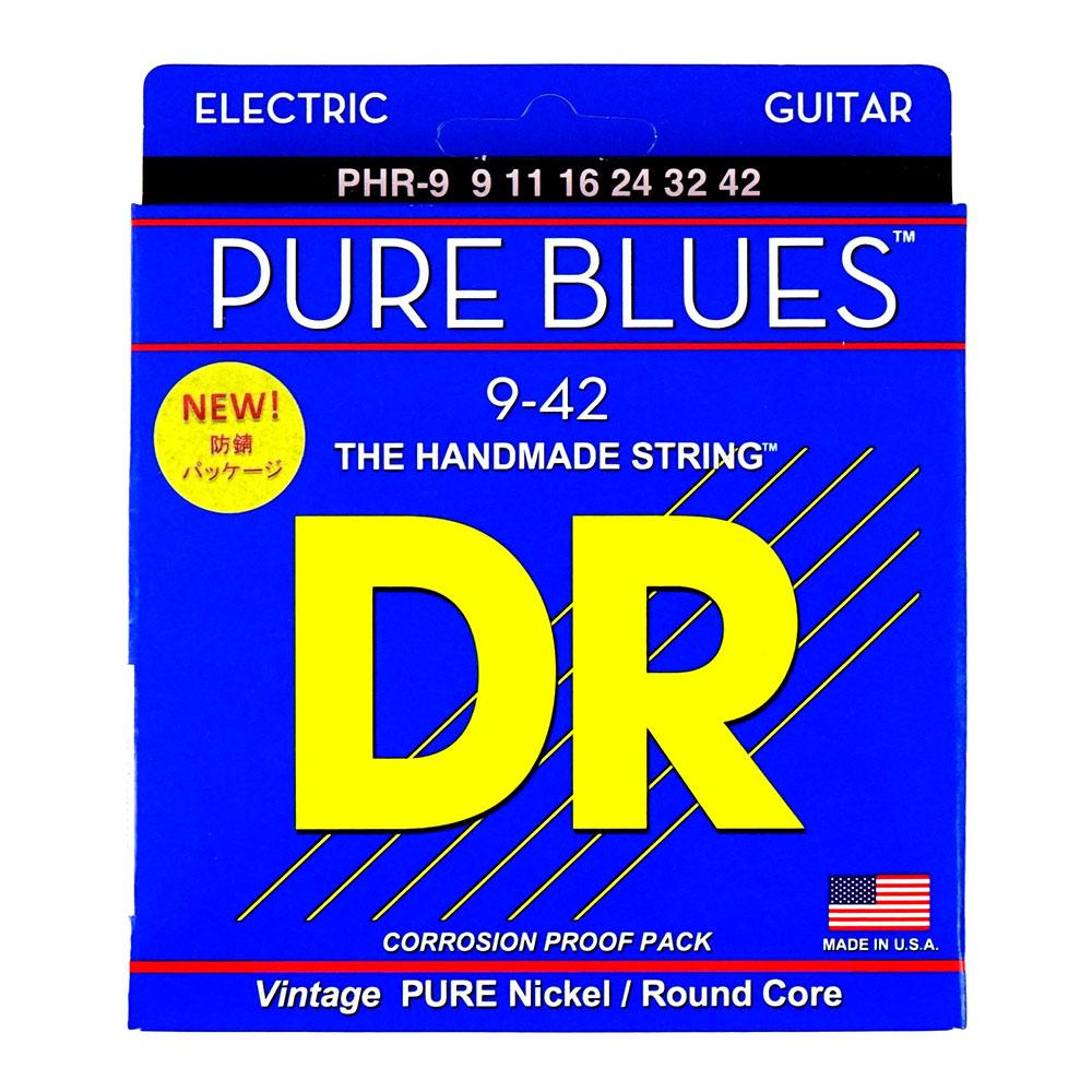 DR PURE BLUES PHR-9 LITE エレキギター弦×12セット