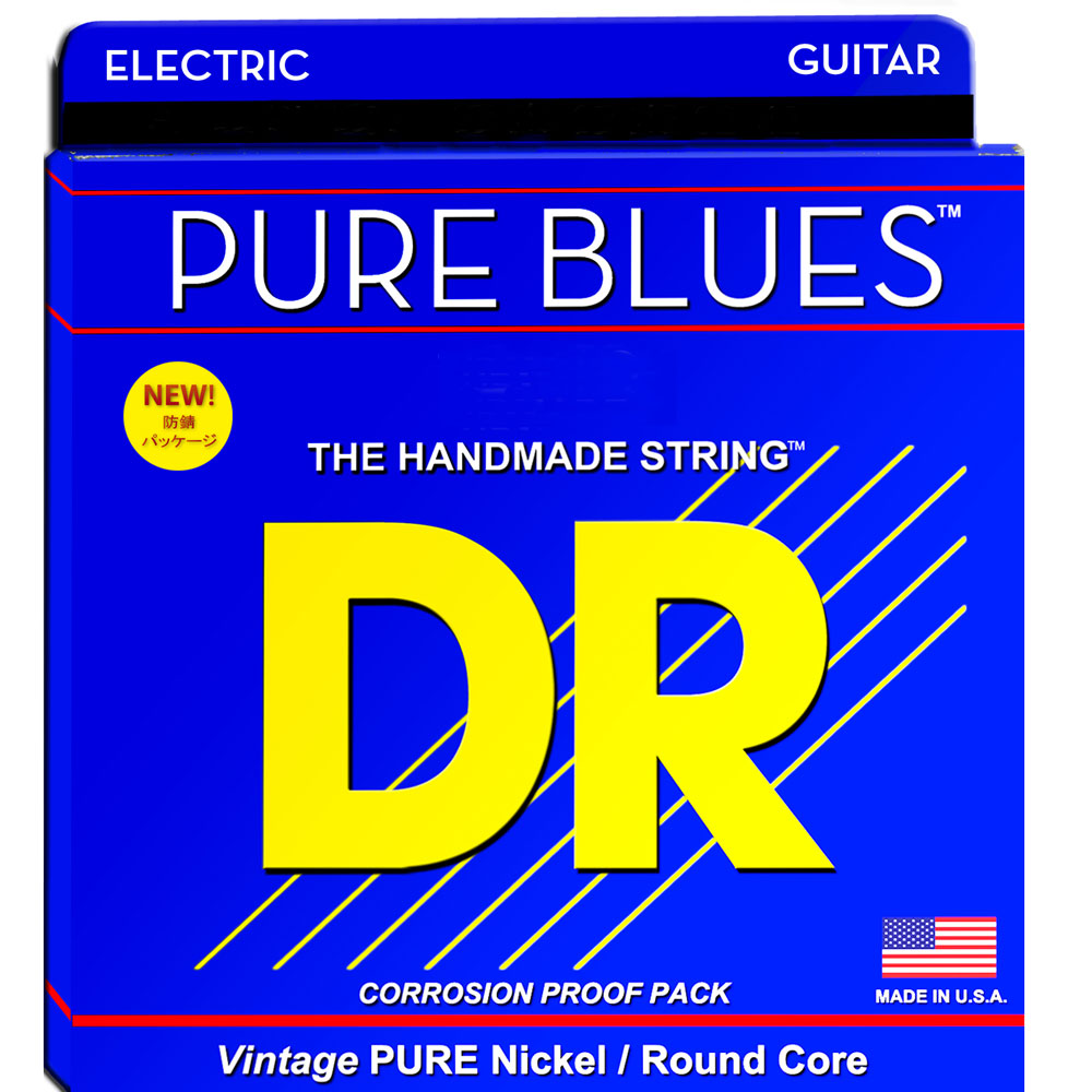 DR PURE BLUES PHR-9/46 Lite&Heavy エレキギター弦×12セット