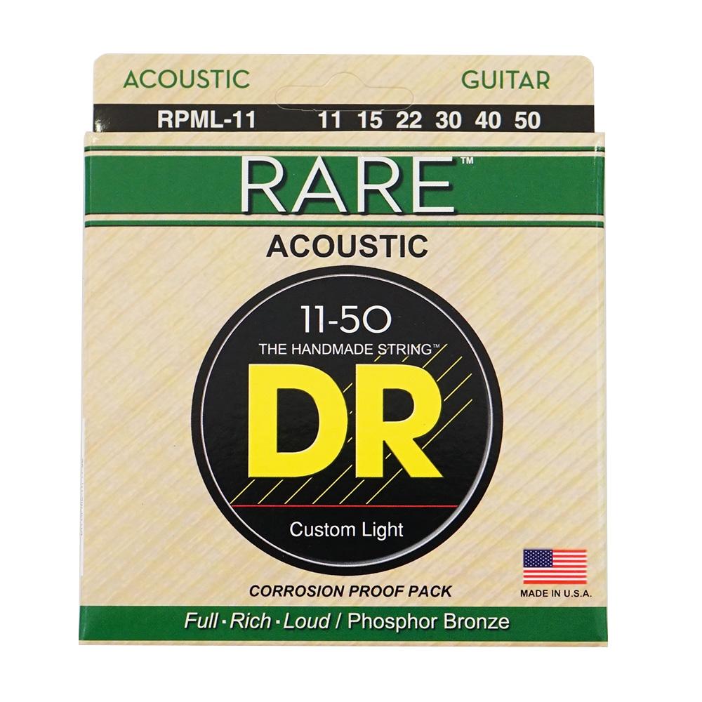 DR ヘックスコア/フォスファーブロンズ アコギ弦 レア DR RARE RPML-11 Medium Lite アコースティックギター弦×12セット