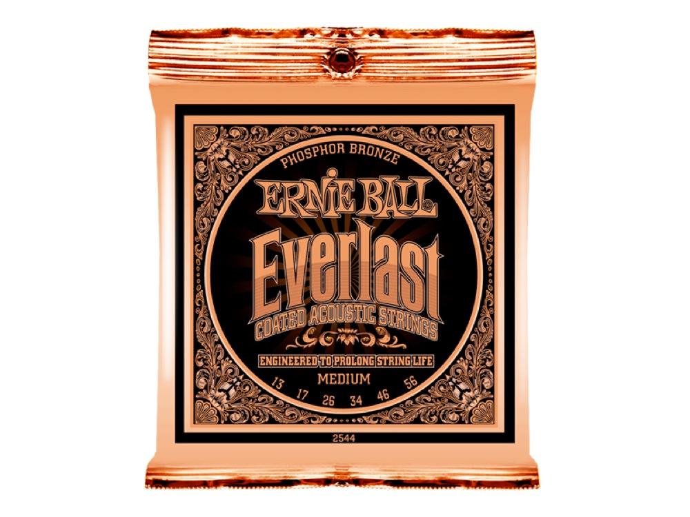 ERNIE BALL 2544 Everlast Coated PHOSPHOR BRONZE MEDIUM アコースティックギター弦×12本