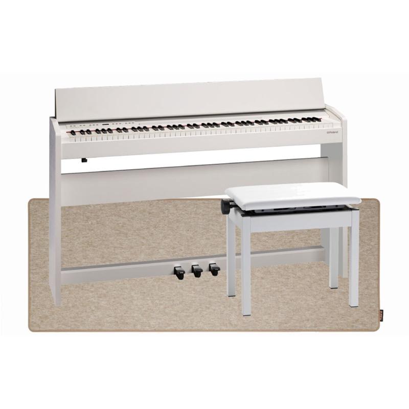 ROLAND F-140R WH 電子ピアノ 高低自在イス&ピアノセッティングマット付き セット【組立設置無料サービス中】