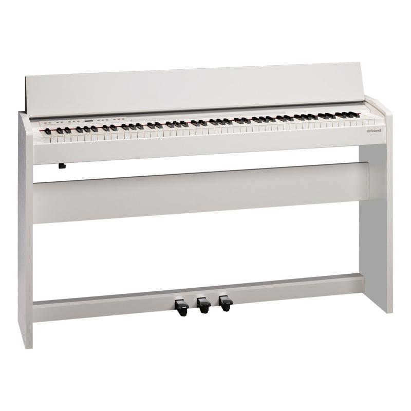 セット 高低自在イス付き 電子ピアノ ROLAND F-140R WH 【組立設置無料サービス中】