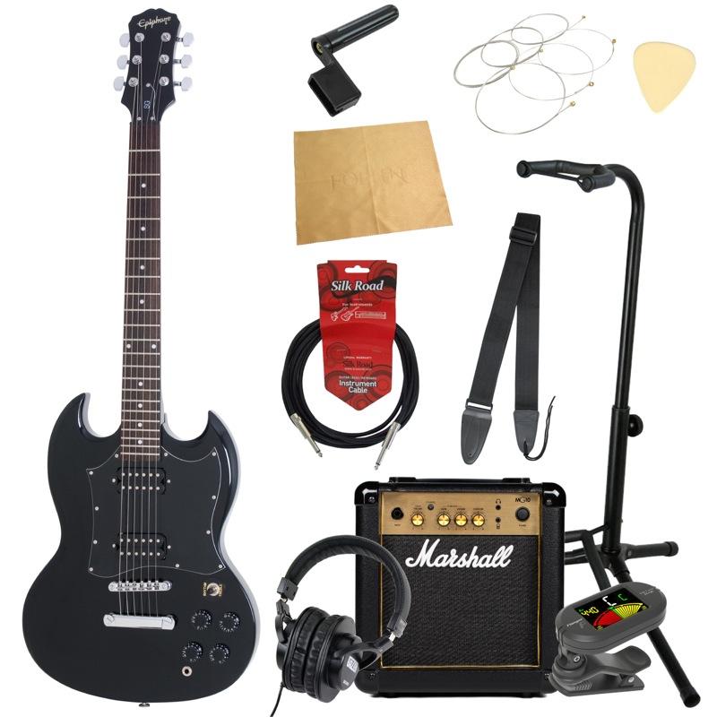 エピフォンから始める!大人の入門セット Epiphone G-310 EB エレキギター Marshallアンプ付 11点セット