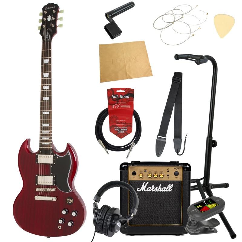 エピフォンから始める!大人の入門セット Epiphone G-400 Pro CH エレキギター Marshallアンプ付 11点セット
