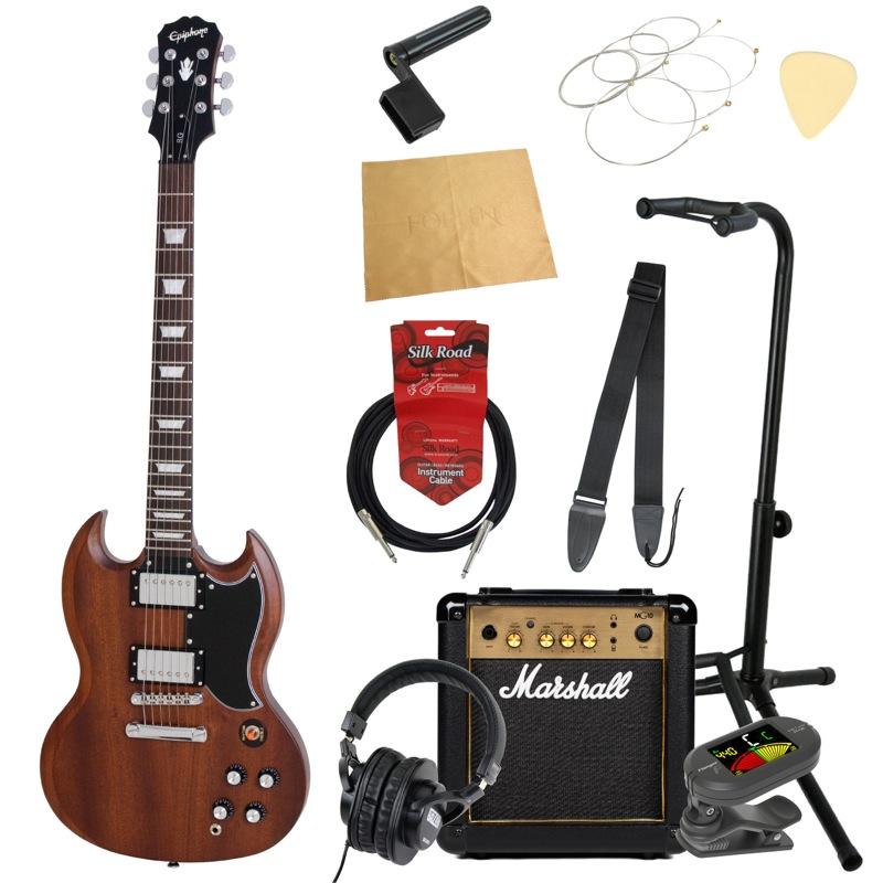 エピフォンから始める!大人の入門セット Epiphone WORN G-400 WB エレキギター Marshallアンプ付 11点セット
