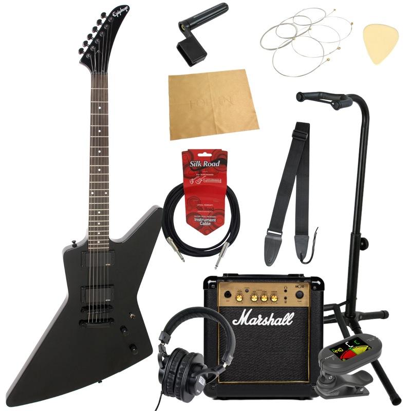 エピフォンから始める!大人の入門セット Epiphone 1984 EXPLORER EX EB エレキギター Marshallアンプ付 11点セット