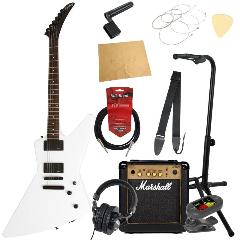 エピフォンから始める!大人の入門セット Epiphone 1984 EXPLORER EX AW エレキギター Marshallアンプ付 11点セット