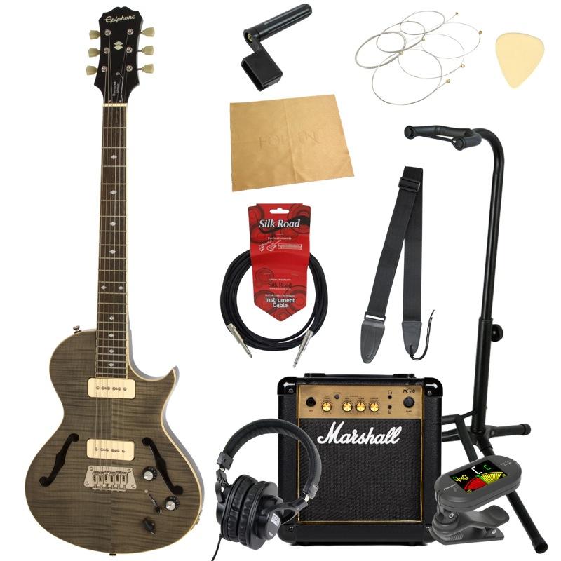 エピフォンから始める!大人の入門セット Epiphone Blueshawk DELUXE TB エレキギター Marshallアンプ付 11点セット