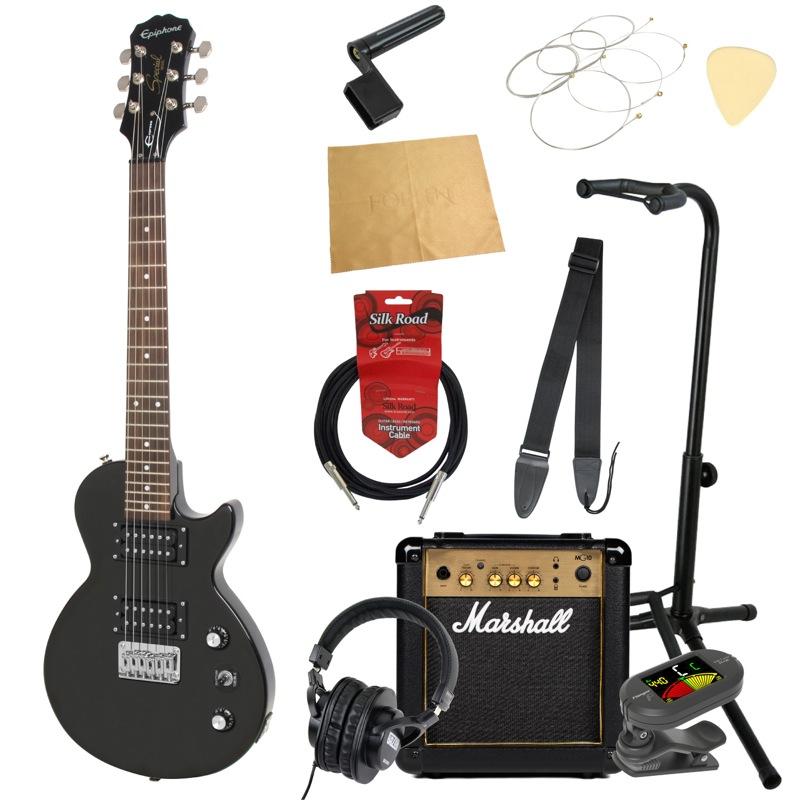 エピフォンから始める!大人の入門セット Epiphone Les Paul Express EB エレキギター Marshallアンプ付 11点セット