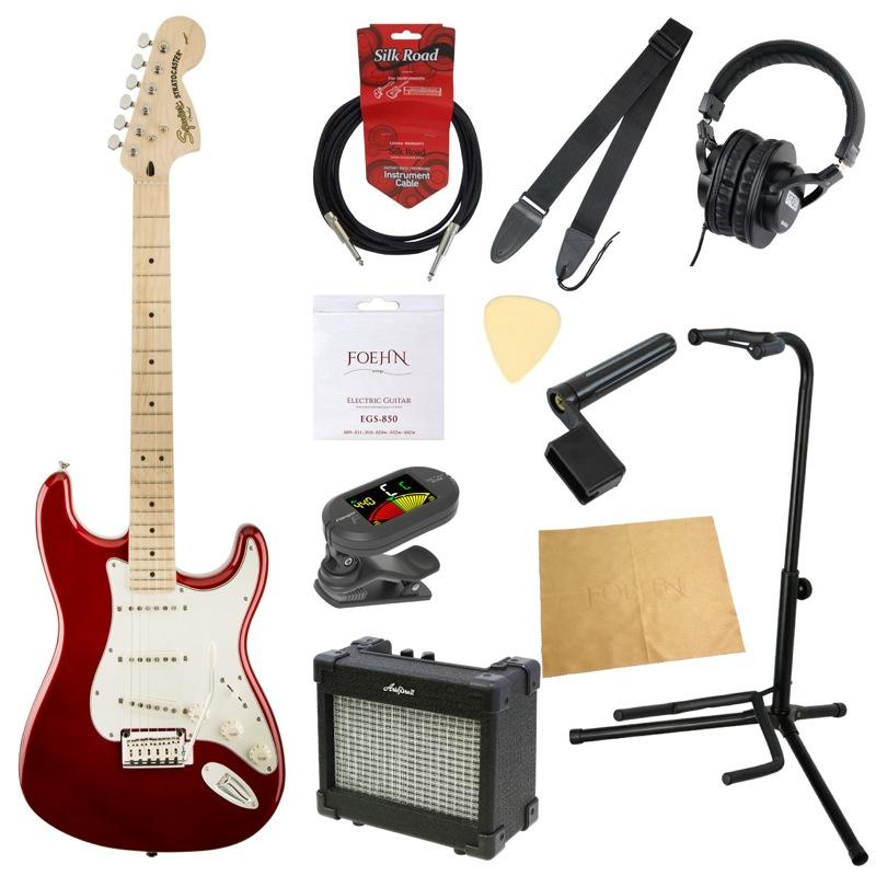 エレキギター入門11点セット Squier Standard Stratocaster CAR/M