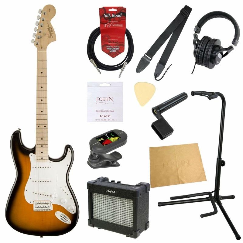 エレキギター入門11点セット Squier Affinity Series Stratocaster 2TS