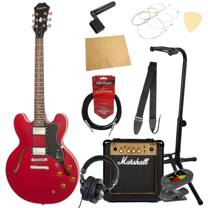 エピフォンから始める!大人の入門セット Epiphone DOT CH エレキギター Marshallアンプ付 11点セット