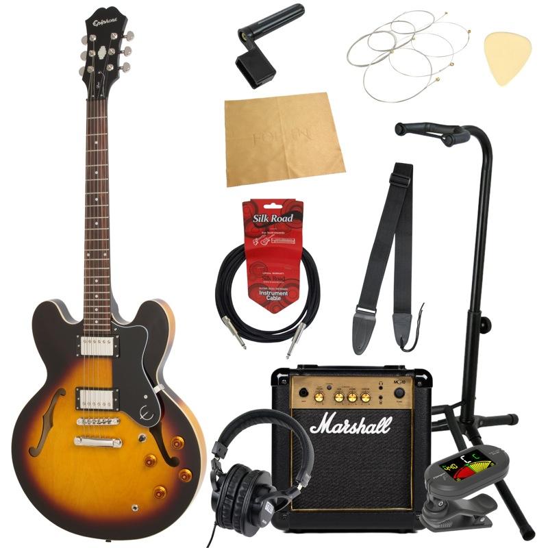 エピフォンから始める!大人の入門セット Epiphone DOT VS エレキギター Marshallアンプ付 11点セット