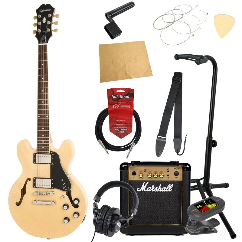 エピフォンから始める!大人の入門セット Epiphone ES-339 Pro NA エレキギター Marshallアンプ付 11点セット