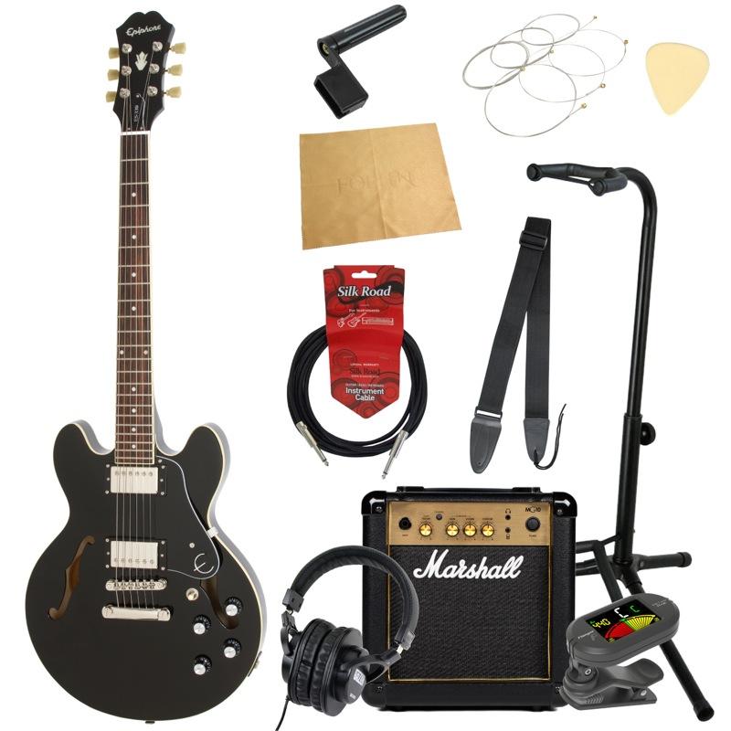 エピフォンから始める!大人の入門セット Epiphone ES-339 Pro EB エレキギター Marshallアンプ付 11点セット