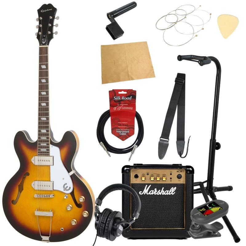 エピフォンから始める!大人の入門セット Epiphone Casino VS エレキギター Marshallアンプ付 11点セット