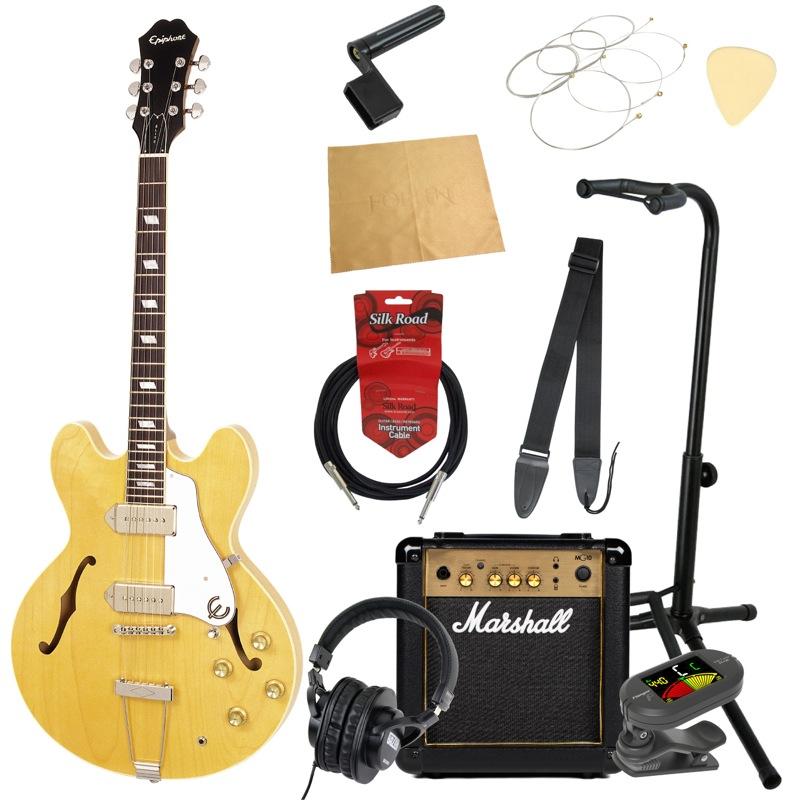 エピフォンから始める!大人の入門セット Epiphone Elitist 1965 Casino NA エレキギター Marshallアンプ付 11点セット