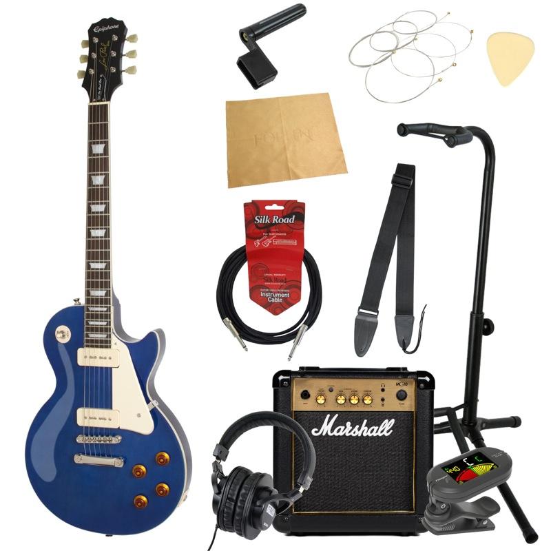 エピフォンから始める!大人の入門セット Epiphone 1956 Les Paul Standard PRO CB エレキギター Marshallアンプ付 11点セット